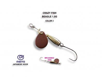 Rotační třpytka Crazy Fish Beagle 1,5 g Color 3