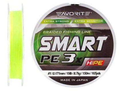 8614 pe line favorite smart pe 3x 150 fl yellow 1 20 187mm 20lb9 5kg