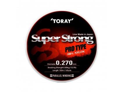 Vlasec pro přívlač Toray Nylon Super Strong 150m Gold 0,152mm 2,21kg