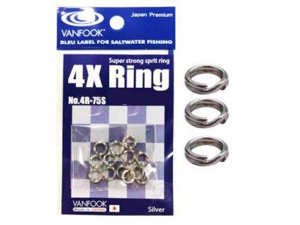 7394 vanfook 4x ring 4r 75s pevnostni krouzky 60lb27kg 22 ks