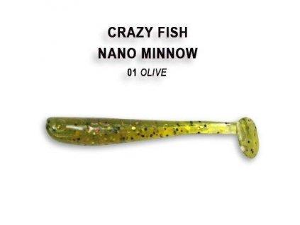 2767 nano minnow 4 cm barva 1 olive