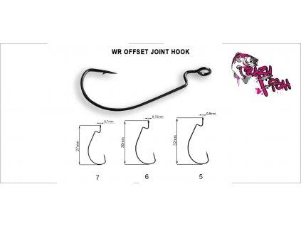 24639 2 hacek crazy fish wr offset joitn hook vel 7 20ks