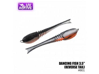"""Pěnová nástraha Prof Montazh Dancing Fish 3.5"""" #801 (reverse tail)"""