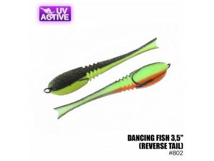 """Pěnová nástraha Prof Montazh Dancing Fish 3.5"""" #802 (reverse tail)"""