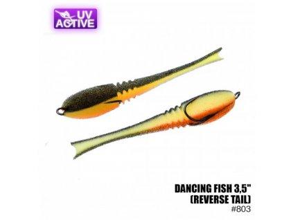 """Pěnová nástraha Prof Montazh Dancing Fish 3.5"""" #803 (reverse tail)"""