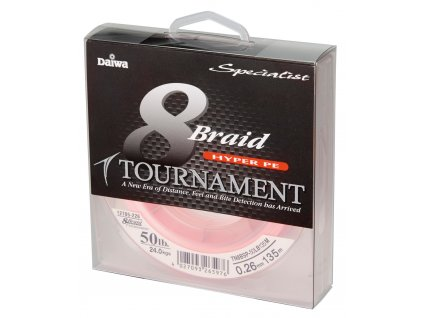 Pletená šňůra Daiwa Tournament 8 Braid - Pink