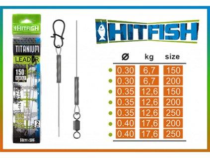 82803 hitfish titanove lanko 0 35mm 12 6kg 15cm 2ks