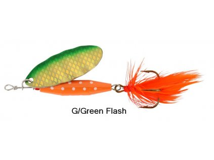 88005 rotacni trpytka abu garcia reflex red 7g g green flash