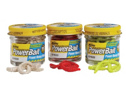 přívlač Nástraha Berkley PowerBait Honey Worm Garlic