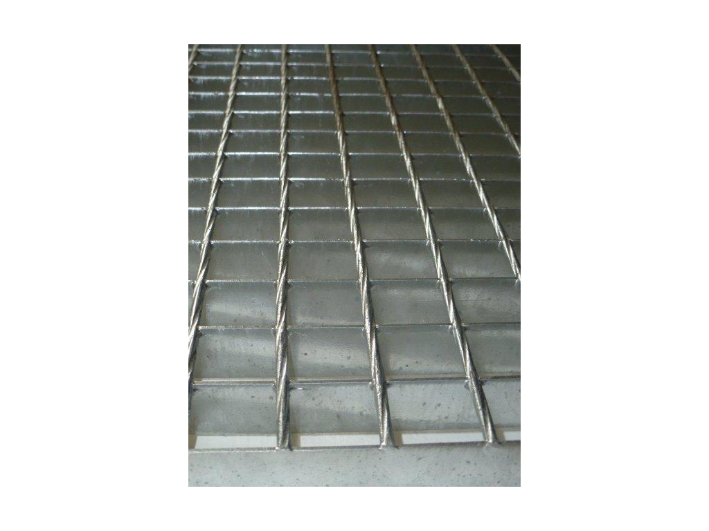 Podlahový oceľový rošt SP/34x38/30x2/150x1000, Zn