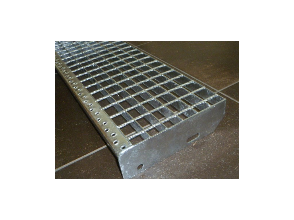 Schodiskový stupeň SP/34x38/30x2/600x270, Zn DIN 24531