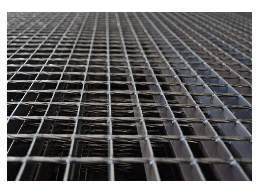 Podlahový oceľový rošt SP/34x38/30x2/1000x1000, bez povrchovej úpravy