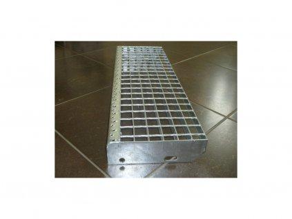 Schodiskový stupeň SP/34x38/30x2/1000x240, Zn DIN 24531