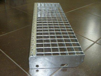 Schodiskový stupeň SP/34x38/30x2/1000x270, Zn DIN 24531