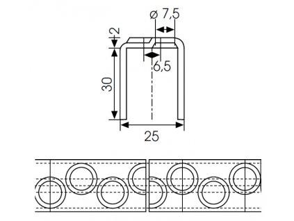 Rebríková priečka typ 25