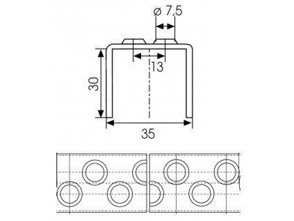 Rebríková priečka typ 35