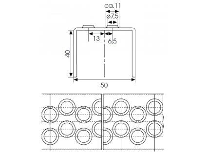 Rebríková priečka typ 50