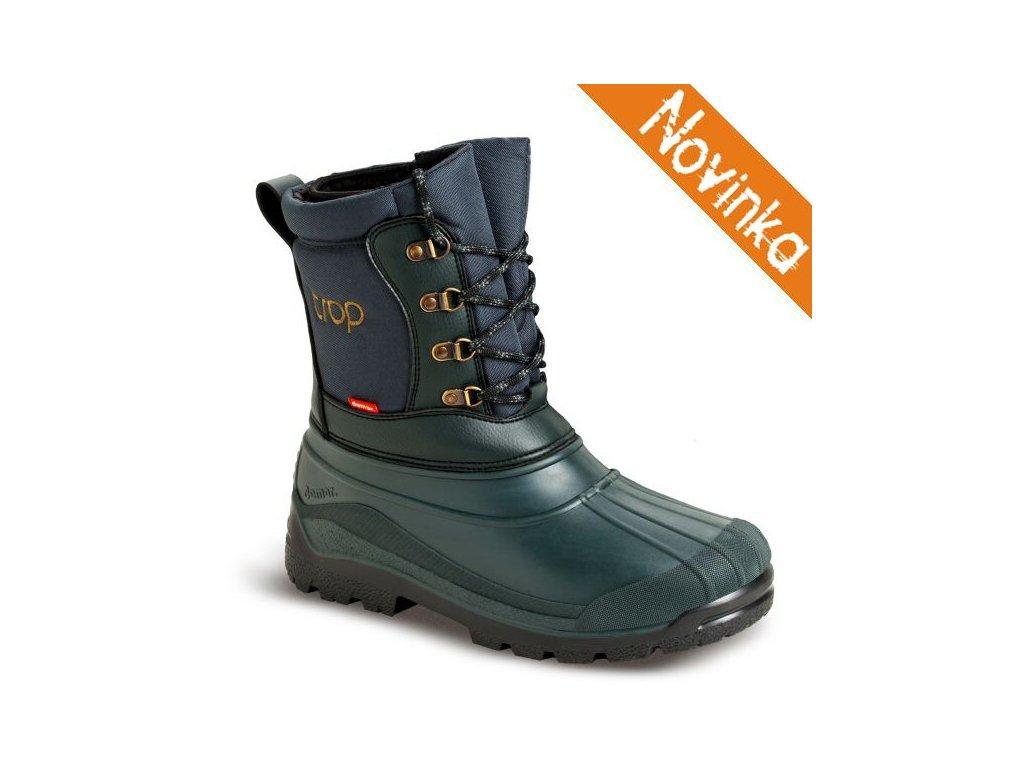 22 DEMAR Myslivecka zimni obuv TROP 2 zelena novinka
