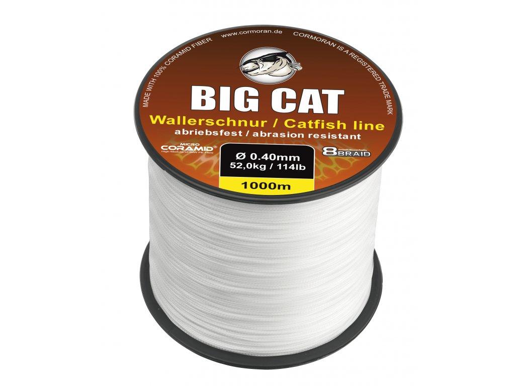 CORMORAN PLETENÁ ŠNŮRA Big Cat PRŮMĚR: 0,50mm, NOSNOST: 68 kg, BARVA: BÍLÁ, Návin: 1 m