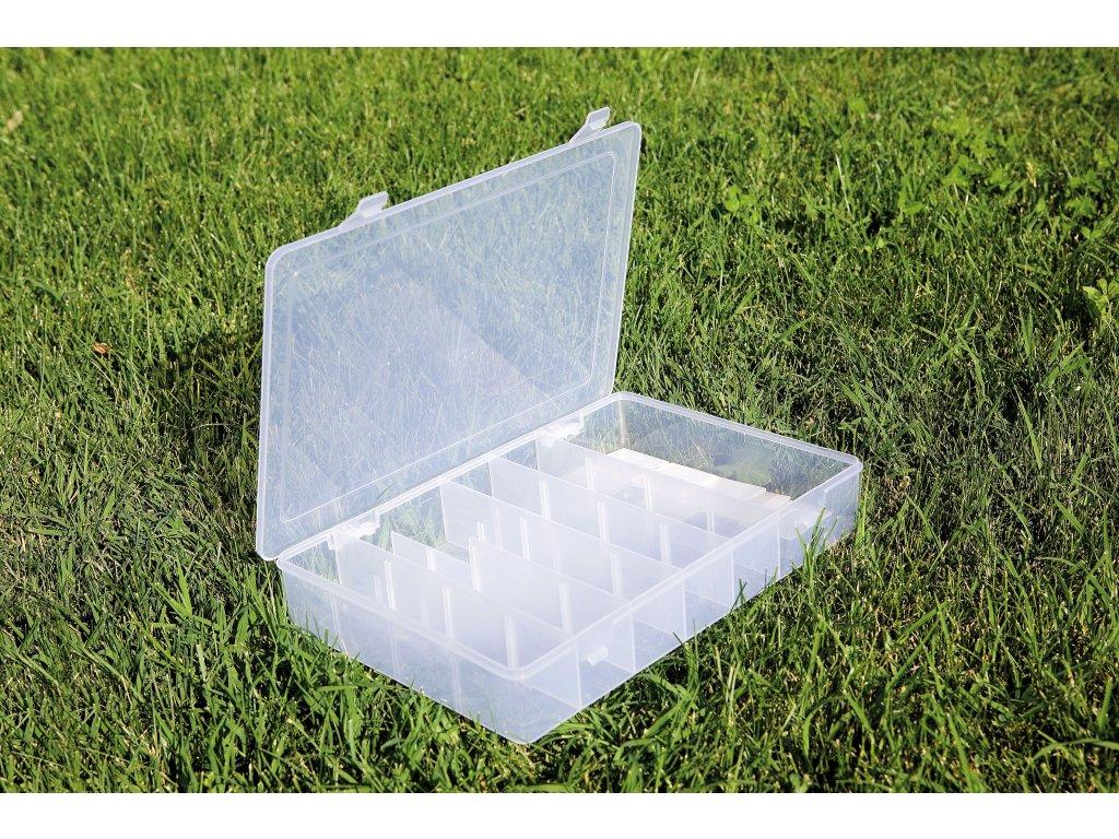 Krabička jednopatrová průhledná