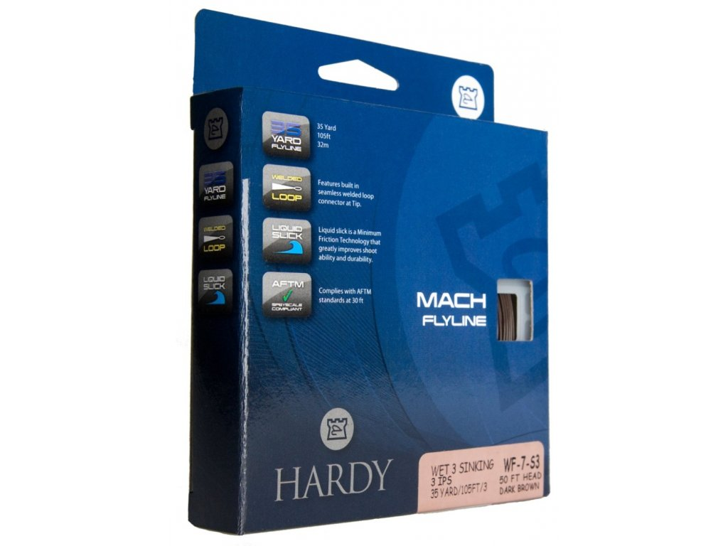 Hardy Muškařská šňůra Mach Spey 65 Clear Int  WF10- Doprodej!