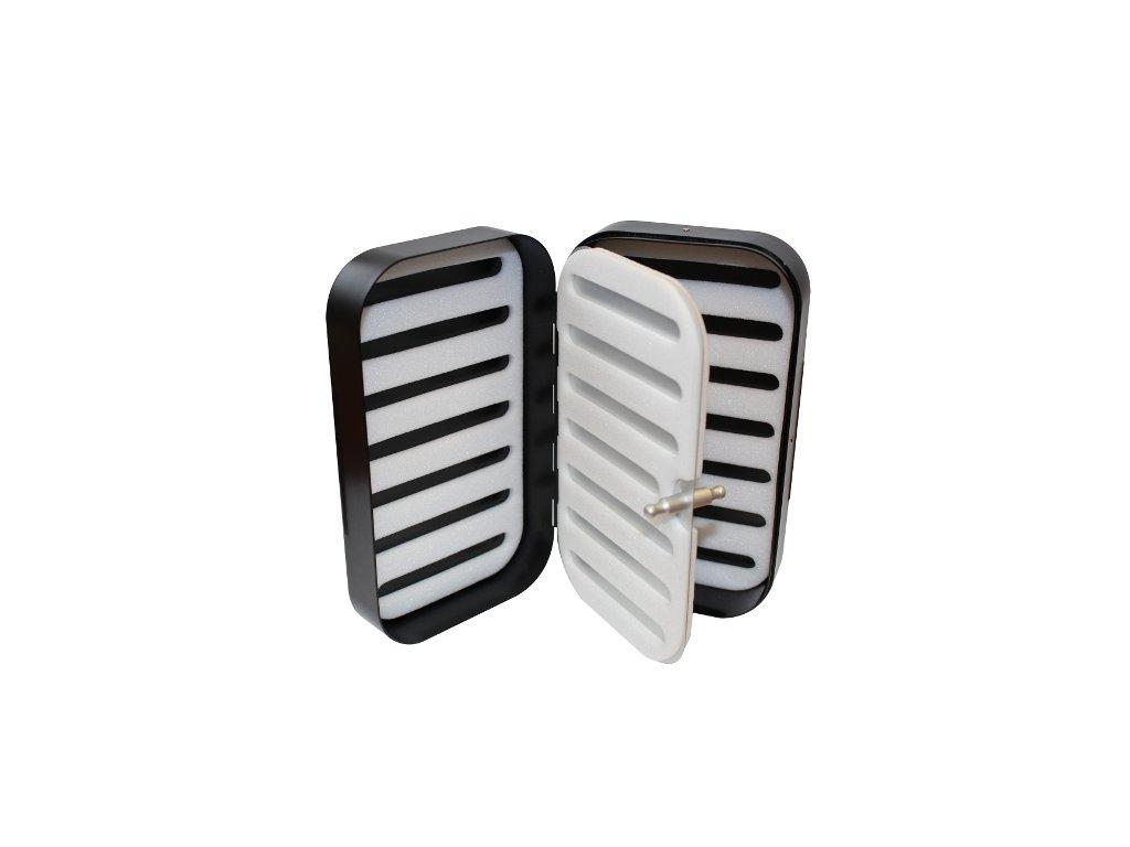 Krabička Foam černá/hliník se středovým panelem