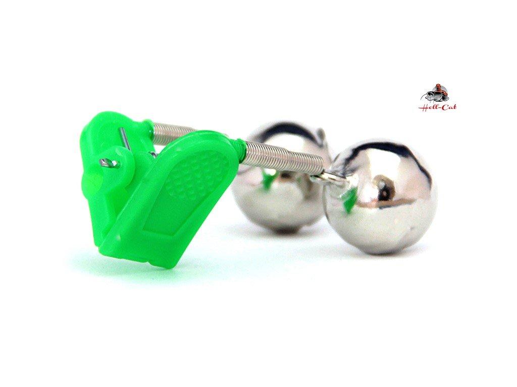 Rolnička dvojitá s klipem zelená ( 1ks )