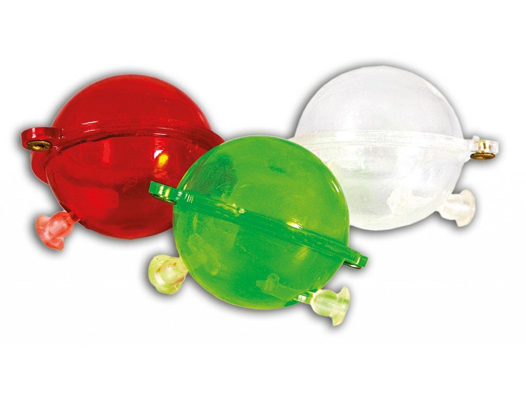 Kulové plovátko na lov z hladiny - Bublina barevná