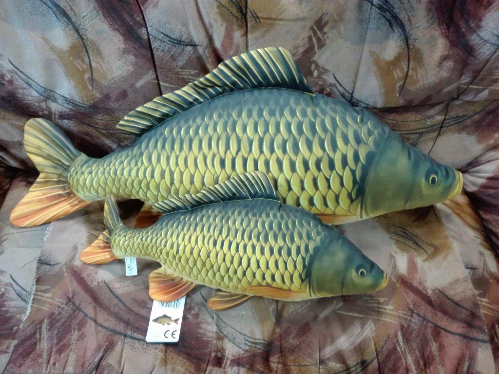 Polštář plyšová ryba - Kapr šupináč