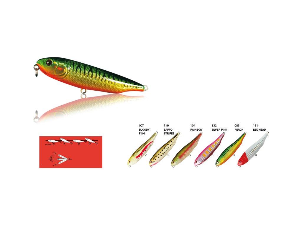 Wobler hladinový 8 cm - Top Water Pencil
