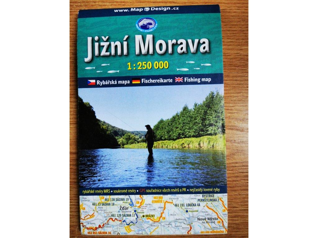 Mapa revírů Jižní Morava