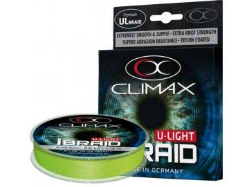 Pletená šňůra Climax iBraid U-Light neon-zelená 135m