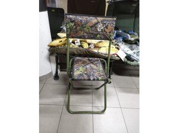 Stolička X s opěrkou