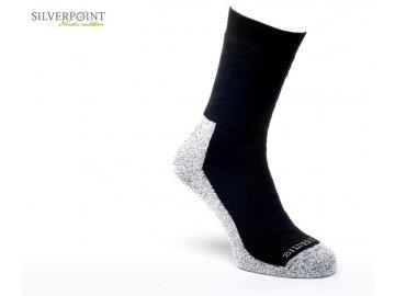 Silverpoint Outdoor Ponožky Comfort Hiker černá/černá směs, vel.39-42