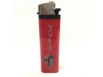 Hell-Cat zapalovač plastový červený