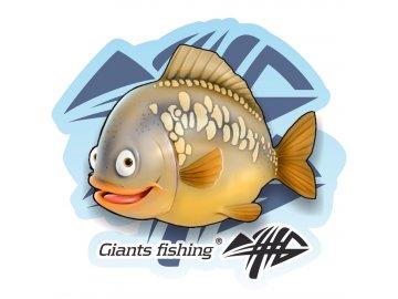 Nálepka malá - Giants Fishing Kapr detský