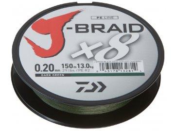 Pletená šňůra 150m J-Braid barva Dark Green