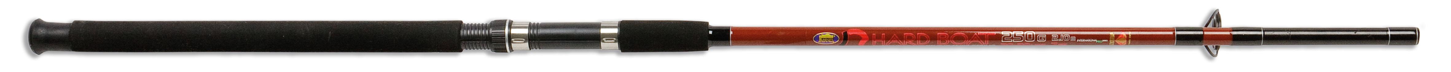 Dvoudílný prut HARD BOAT 250 gr Gramáž: 20-30lbs, Počet dílů: 2, Délka prutu: 210cm, Skladnost prutu: 110cm, Váha prutu: 255g, Počet oček: 5