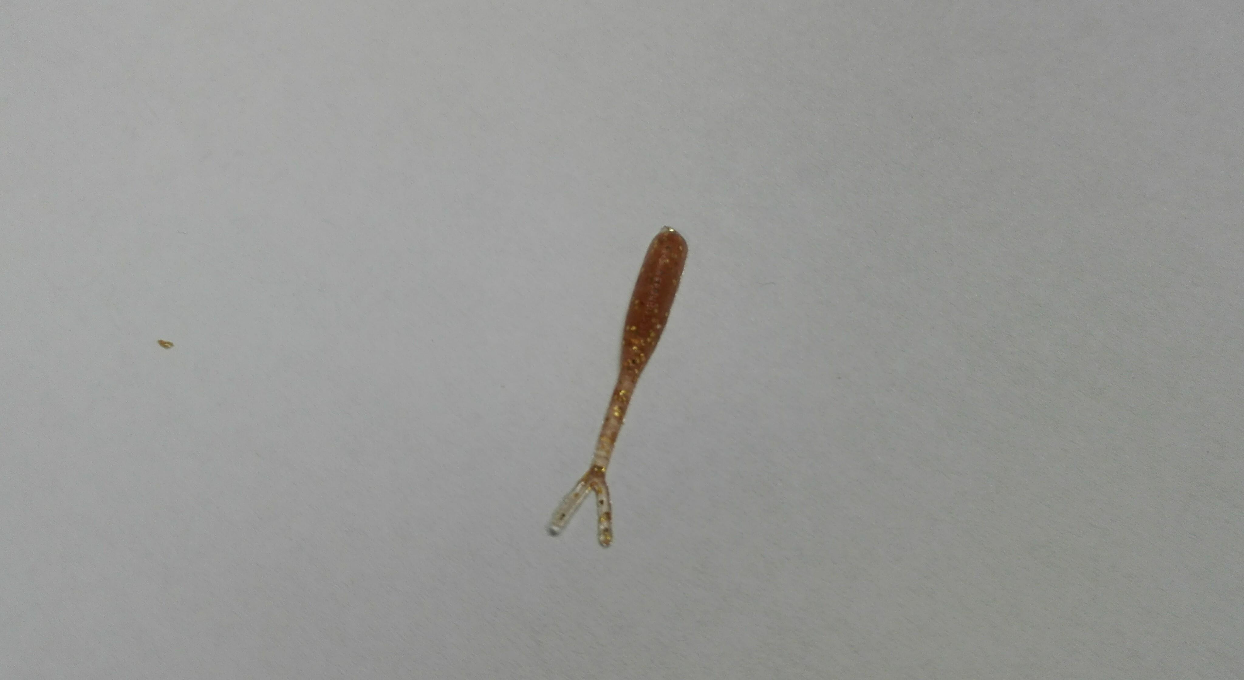 Smáček mini 2,5 cm Barva: 6 Červeno průhledná zlatý glitr