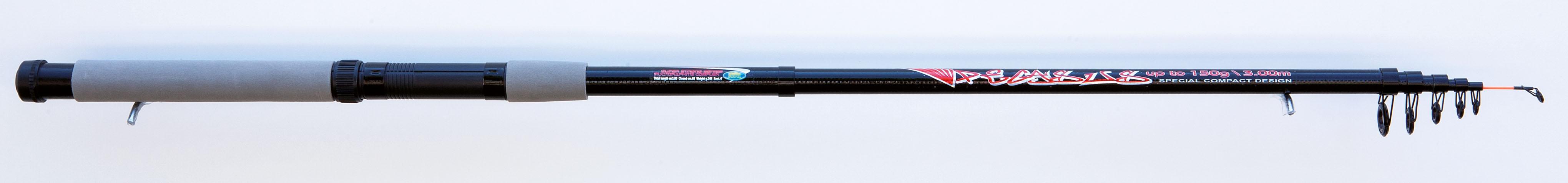 Prut teleskopický VIGOR PEGASUS Gramáž: 50-150 gr, Počet dílů: 6, Délka prutu: 240 cm, Skladnost prutu: 55 cm