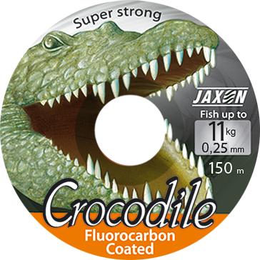 Vlasec JAXON-CROCODILE FLUOROCARBON COATED PRŮMĚR: 0,45 mm, NOSNOST: 30kg