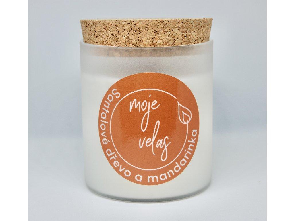Mandarinka a santalové dřevo, matné sklo