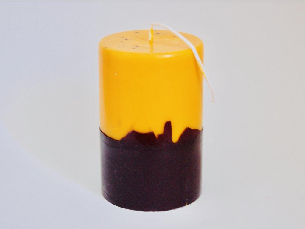 Halloweenská klasická svíce, vůně vetiveru