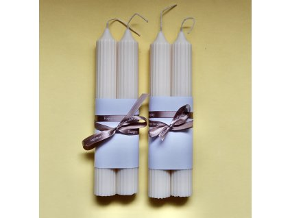 Přírodní svíčka, klasik do svícnu, s vůní vanilky