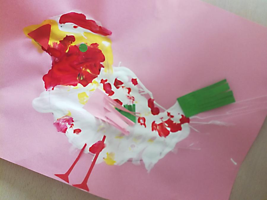 Domácí výtvarka: ptáček a sněhulák