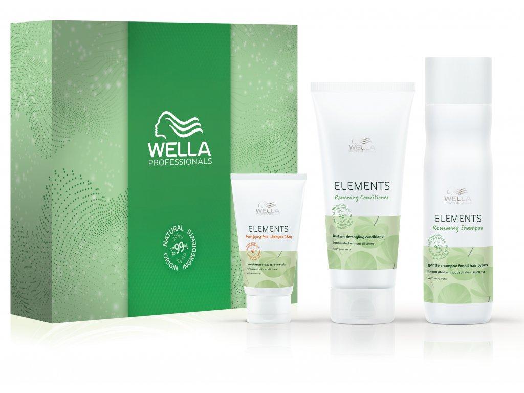 Wella krabice 2020 ELEMENTS+produkty 3D
