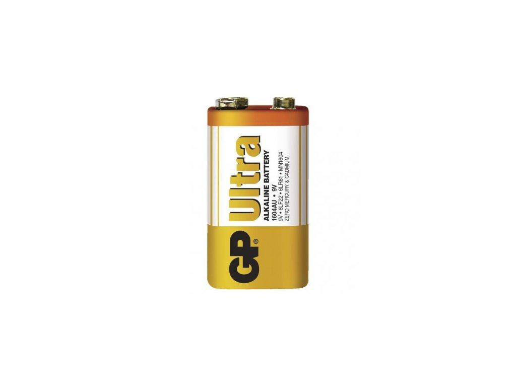 Alkalická baterie GP Ultra 9V (6LF22)