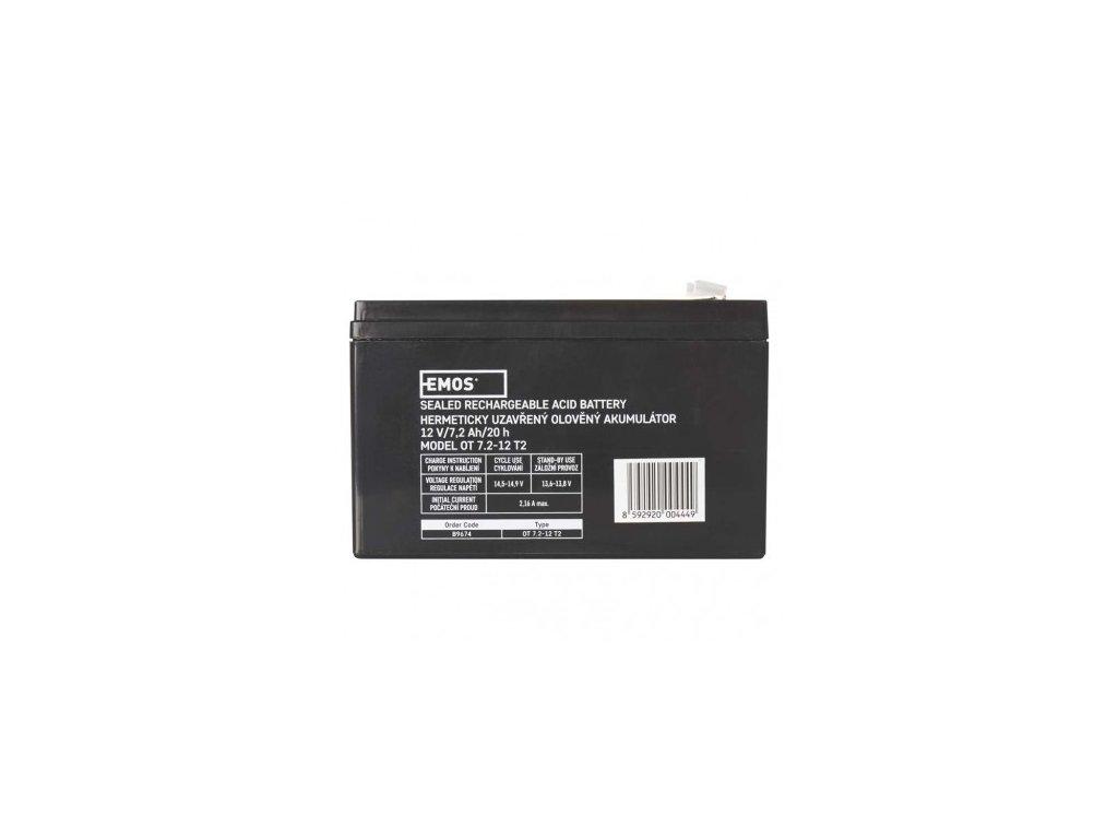 Bezúdržbový olověný akumulátor 12 V/7,2 Ah, faston 6,3 mm