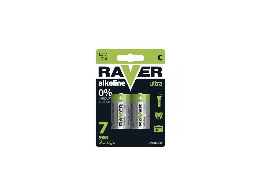 Alkalická baterie RAVER C (LR14)