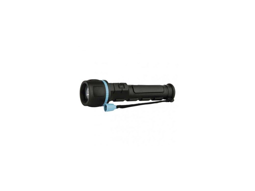 LED ruční gumová svítilna P3861, 20 lm, 2× AA